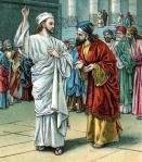 Jesus silences the Pharisees