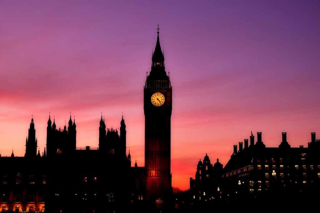 Big Ben Clock in the Evening